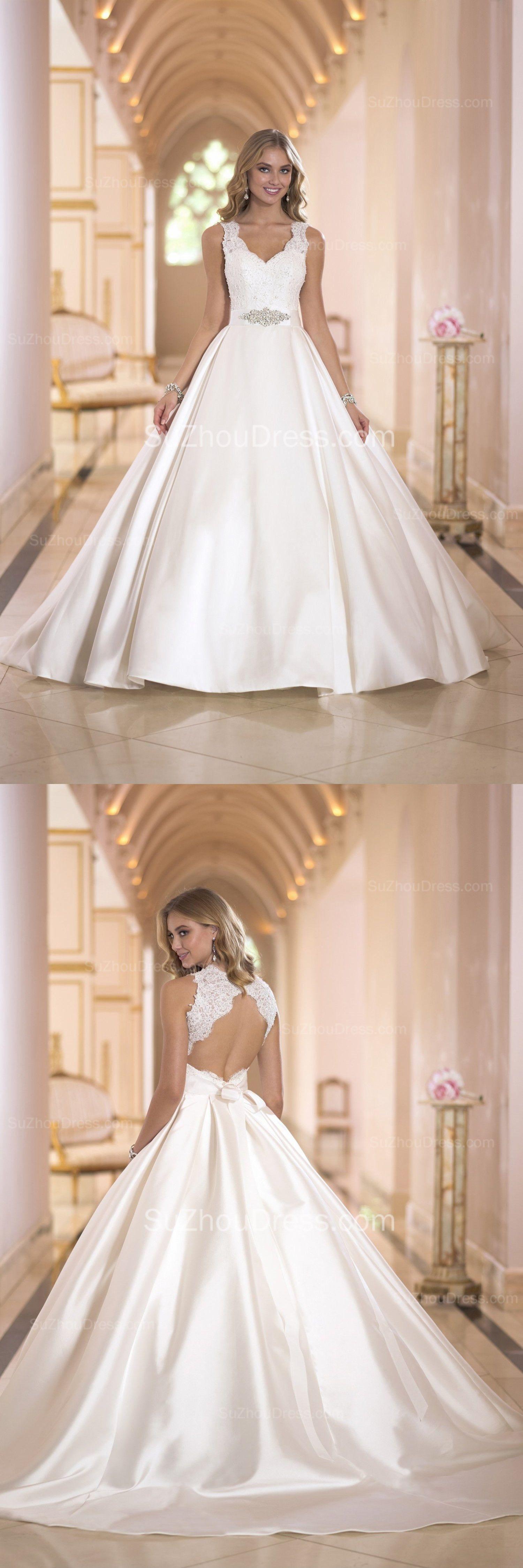 No lace wedding dress october 2018 ediliane cristianoedilia on Pinterest