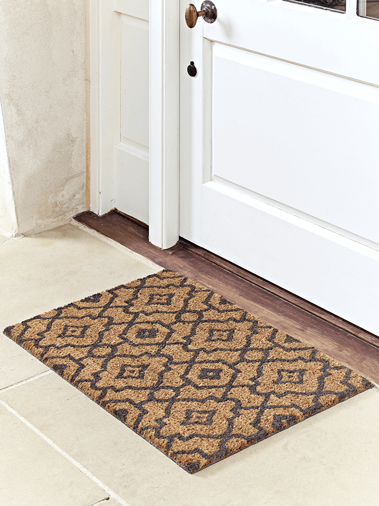 Doormats Donu0027t Have To Be Dull! Our Hardwearing Coir Doormat Has A Charcoal  Grey, Moroccan Style Pattern And Durable Rubber Back Tou2026