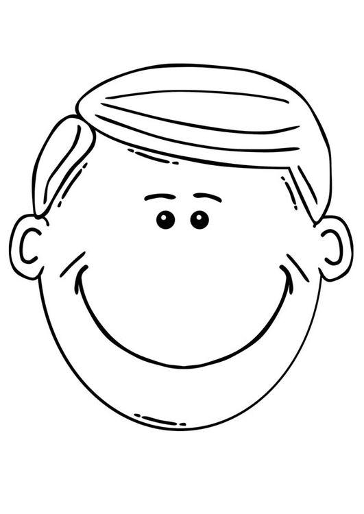 Dibujo para colorear cara de hombre | caras | Caras, Dibujos para ...