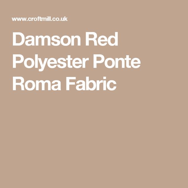 Damson Red Polyester Ponte Roma Fabric