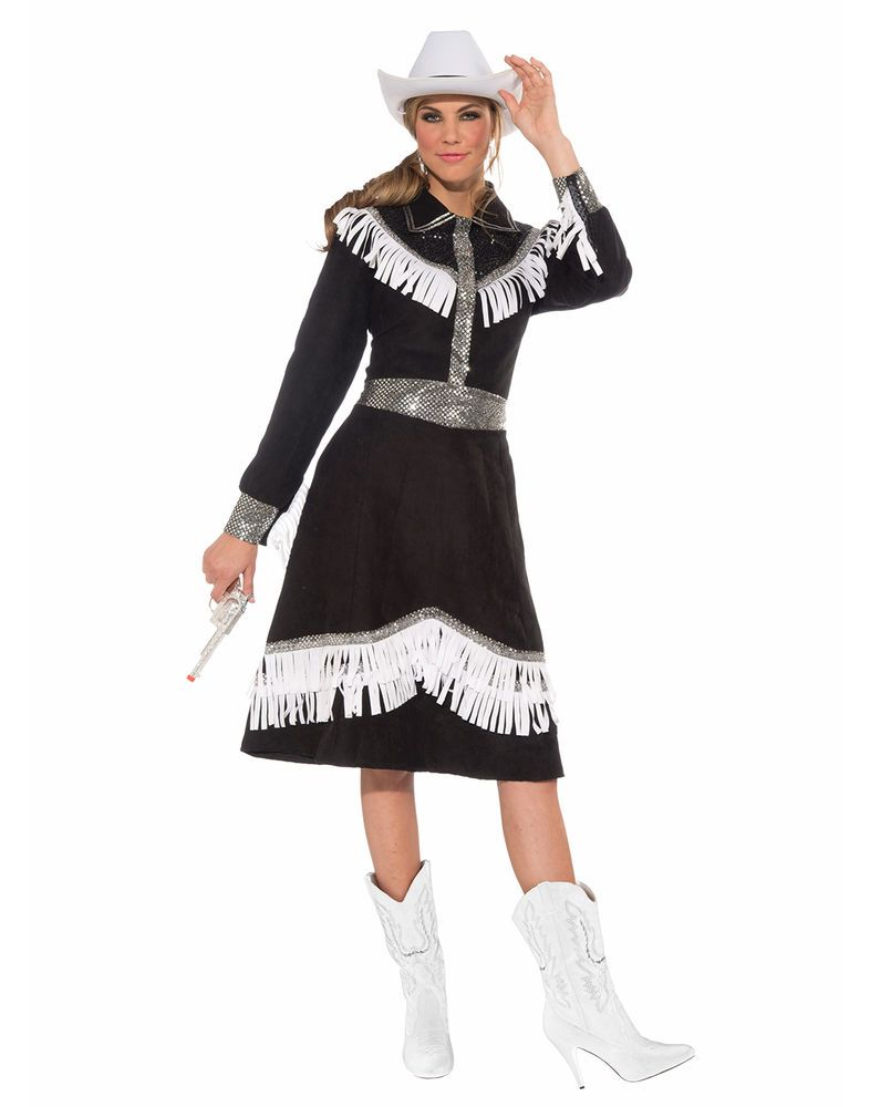 Details About Womens Cowgirl Costume Cow Girl Rodeo Fancy -4984