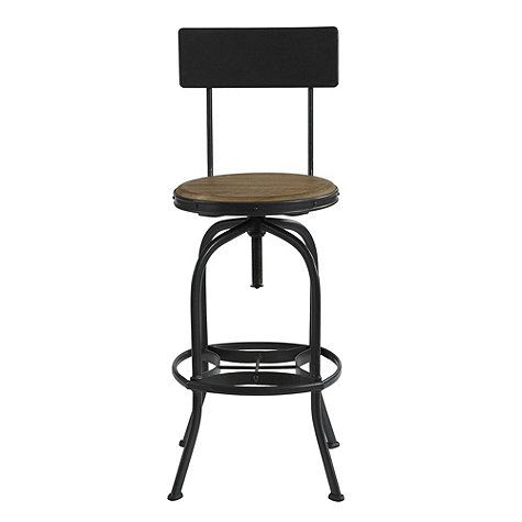 Wood And Steel Barstool Rustic Industrial Mobili Industriali