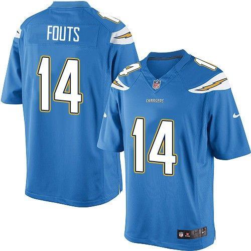 24 99 nike limited dan fouts electric blue men s jersey los rh pinterest com