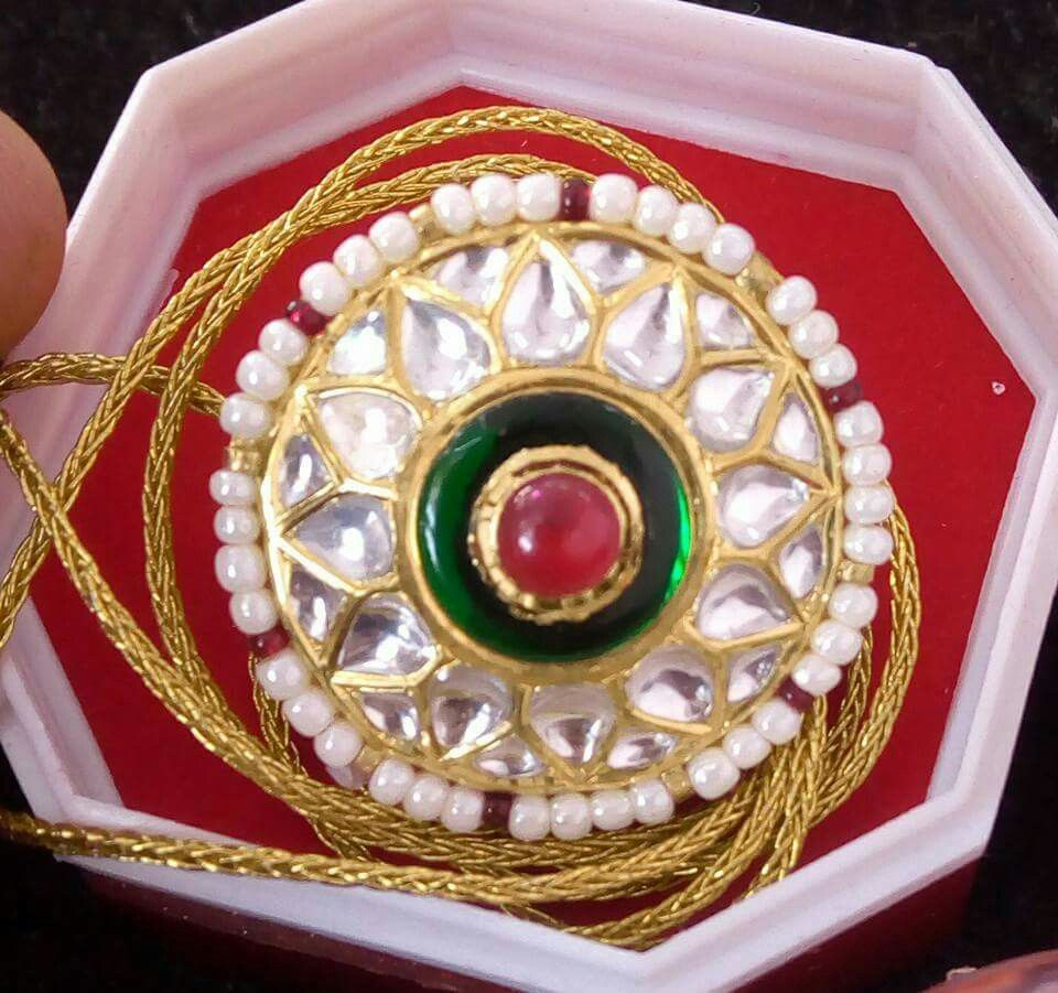 Rajputi jewellery beautiful rakhri by Kuldeep Singh | Royal ...