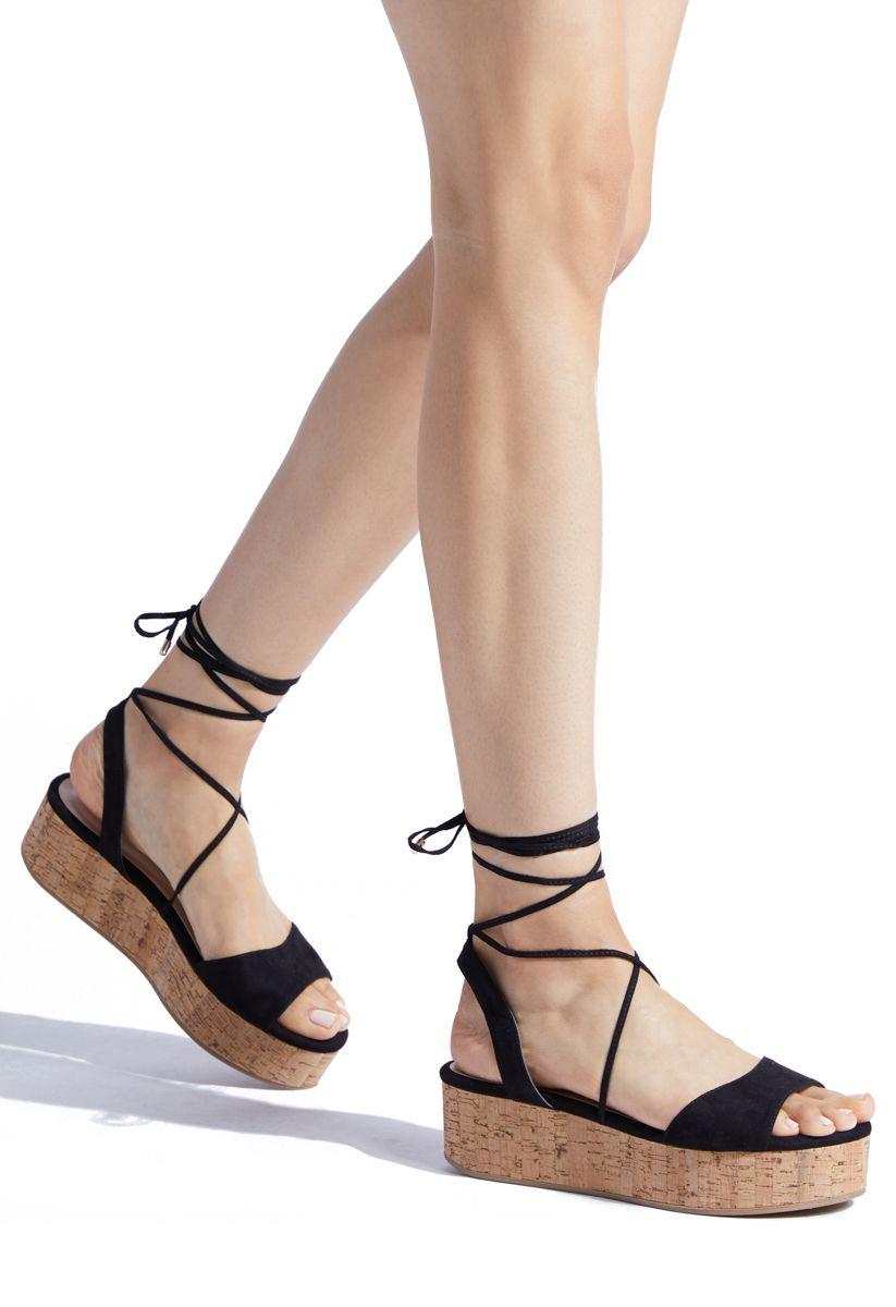 4faf664c7b6 DAELEEN LACE UP FLATFORM WEDGE - ShoeDazzle