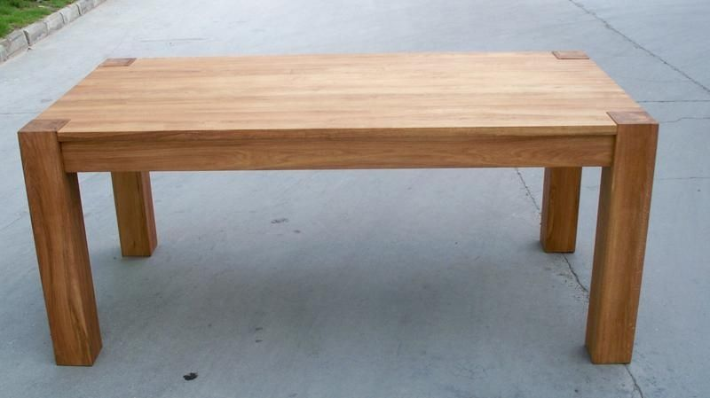 Round Chunky Solid Oak Dining Table Wooden Only Dakota Mango Wood