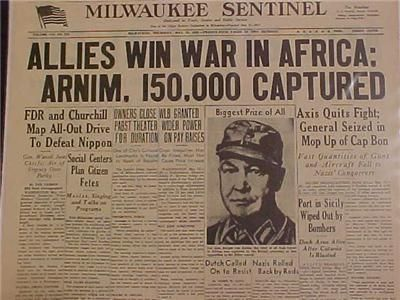 Image result for allied victory of el alamein newspaper