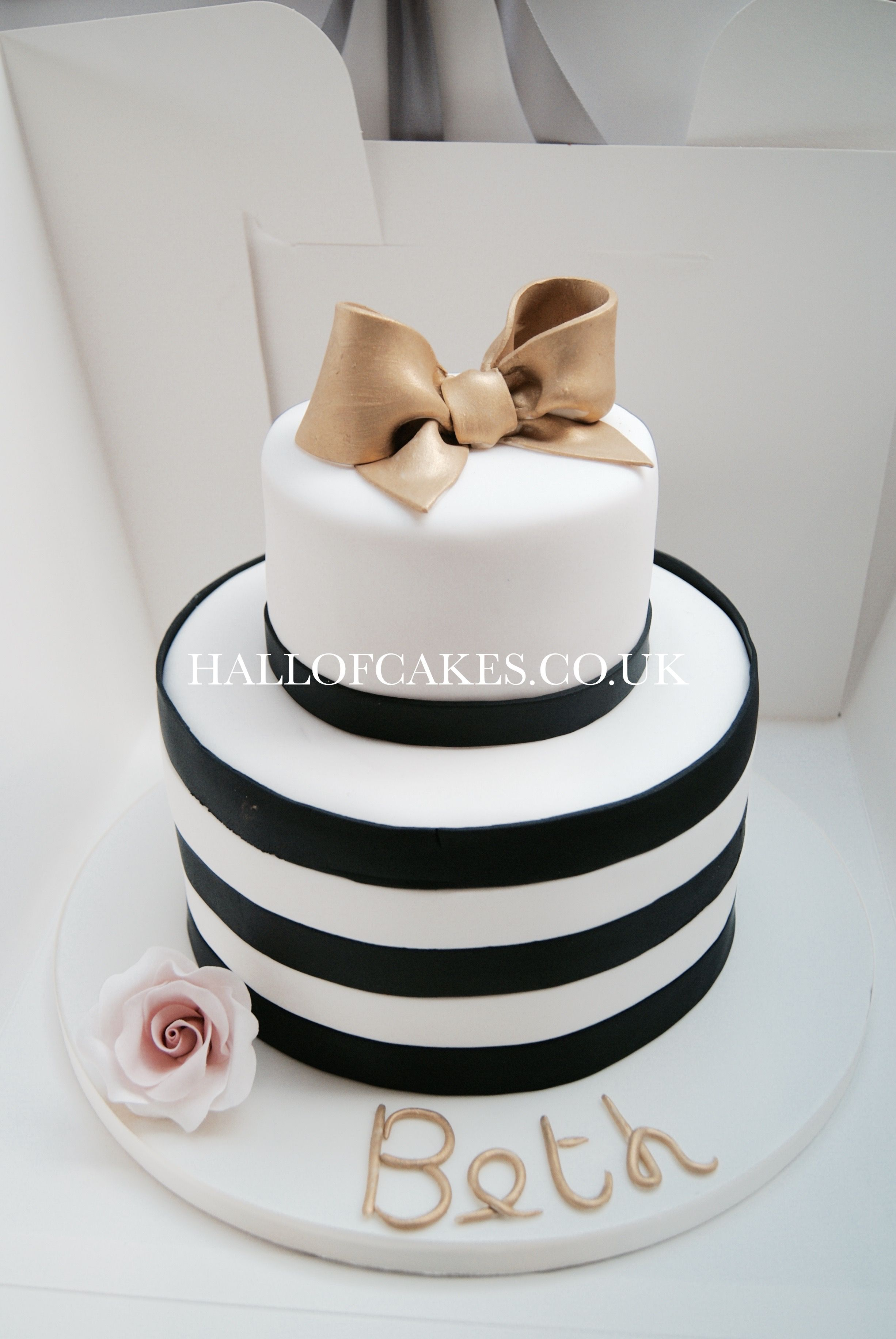 Black and white stripe cake by Hall of Cakes London | Cakes ...
