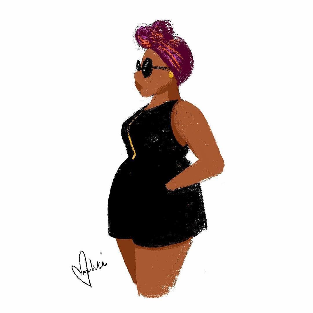 Slay Blackgirlmagic Drawings Of Black Girls Curvy Art Black Girl Art