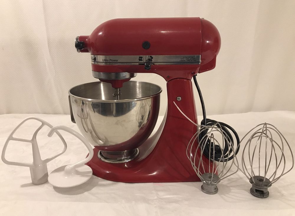 Kitchenaid 300 watts ultra power red stand mixer w