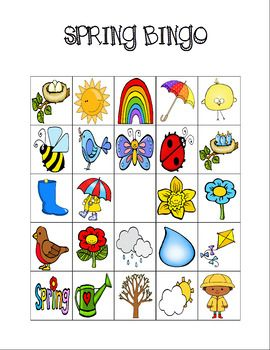graphic about Spring Bingo Game Printable titled Spring Personalized Bingo Printables (Colour and BW) Cl