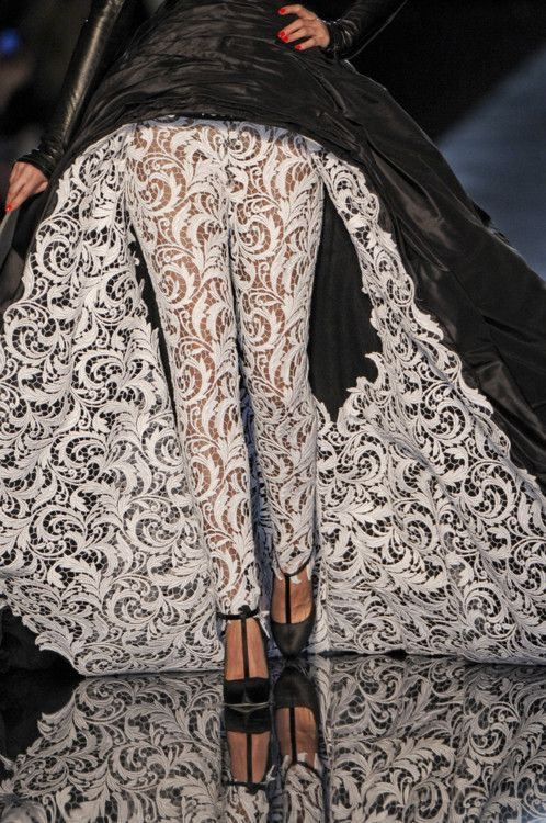 What an interesting idea for lace.  Jean Paul Gaultier (of course)