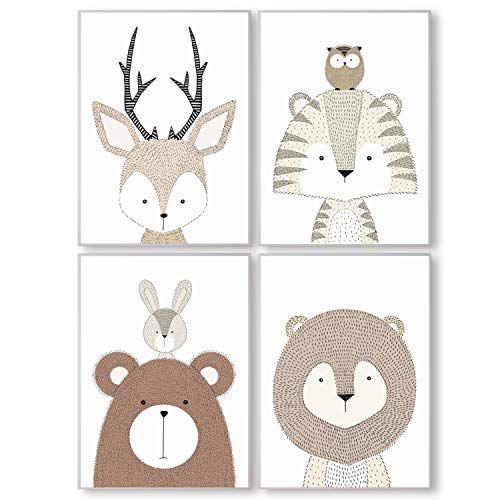 Pandawal Kinderzimmer Bilder Deko grau für Junge und