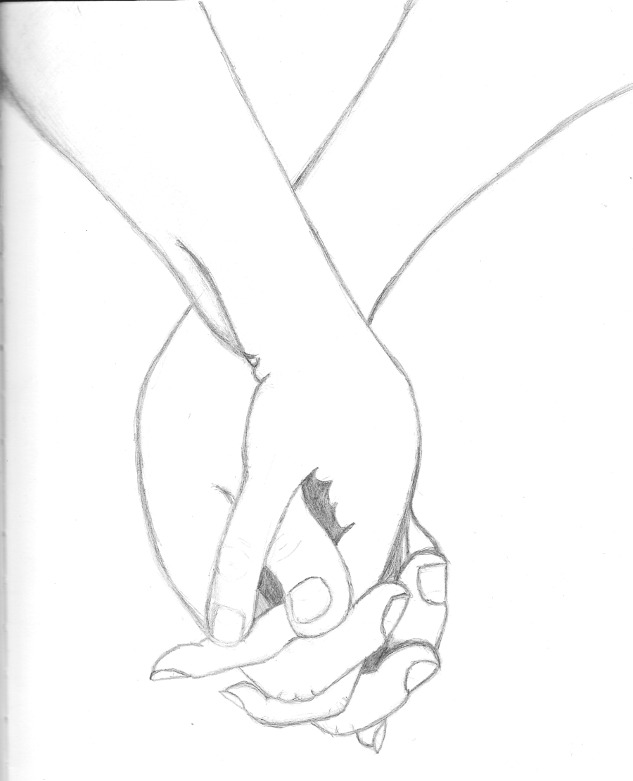 Love drawings emo couples couple holding hands hand pose love drawings gold