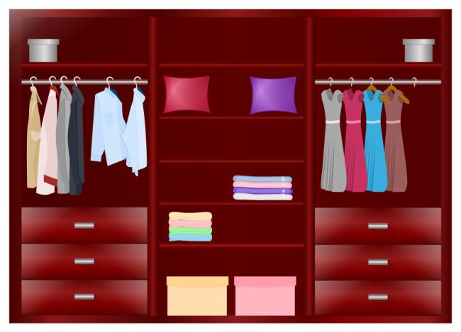 Free Printable Wardrobe Design Floor Plan Template  Interior