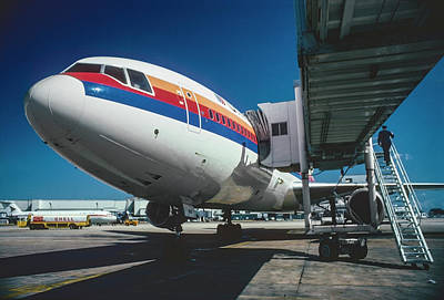 Classic United Airlines DC-10 at Miami International Airport Art Print