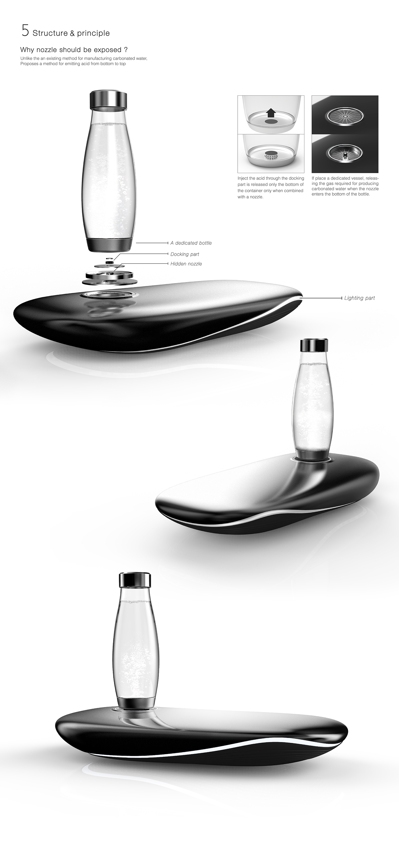 Design Küchenutensilien Carbonated Water Machine Whale Motive Concept Design