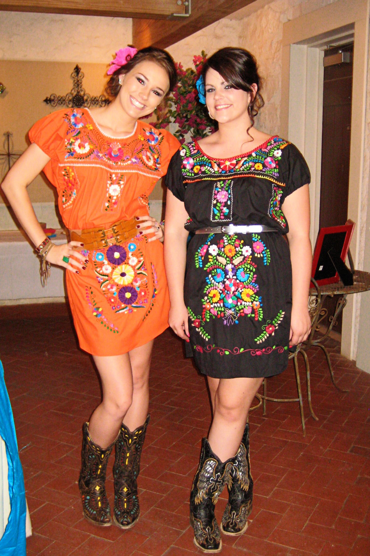 Two Of The Beautiful Bridesmaids! | Fiesta Wedding Fiesta | Pinterest | Mexicans Fiestas And ...