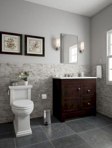 60 Fantastic Farmhouse Bathroom Vanity Decor Ideas And Remodel #bathroomvanitydecor