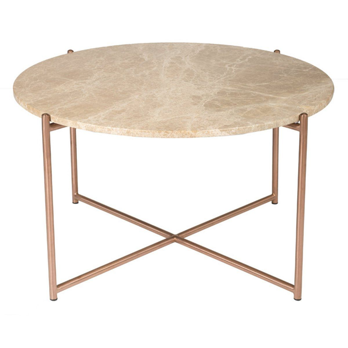 Round Coffee Table Brown Marble Brushed Brass Coffee Table