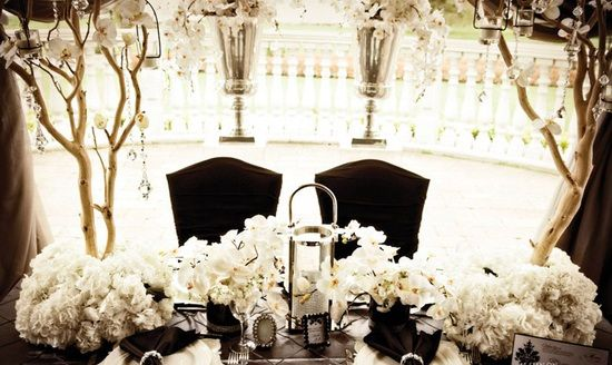 Classic Black and White Winter Wedding Color Scheme | Wedding ...