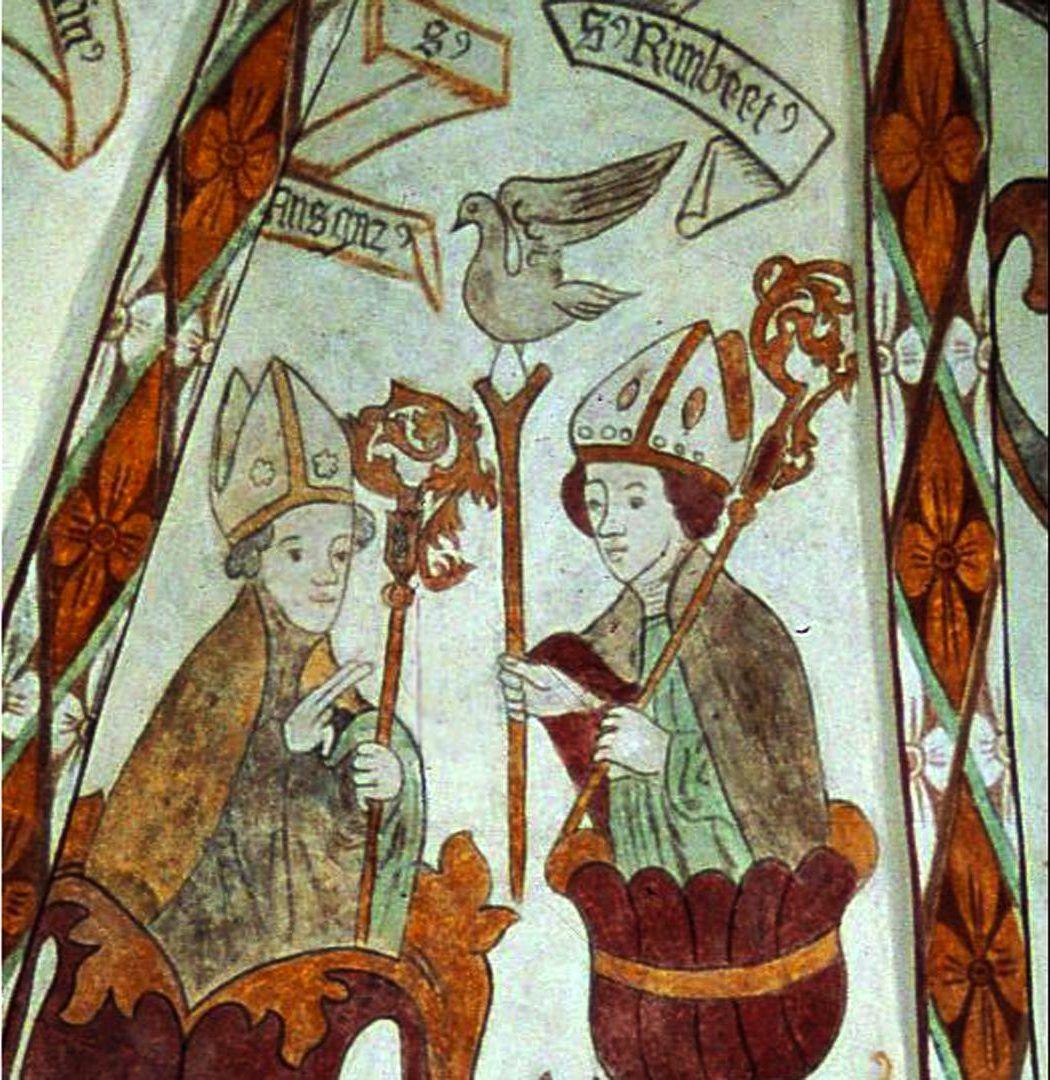 Ansgard en Rimbert (Deense gewelfschildering)