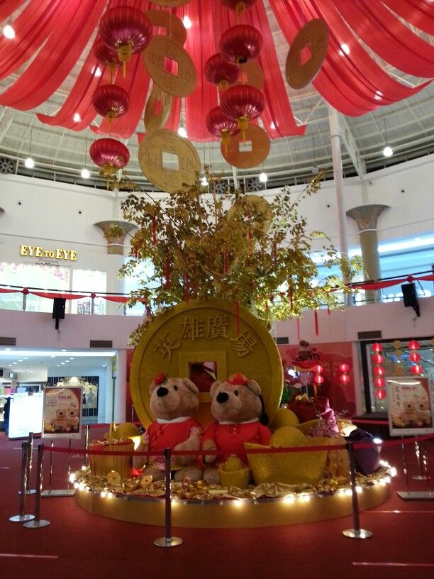 Chinese New Year decoration in one of our local malls ...