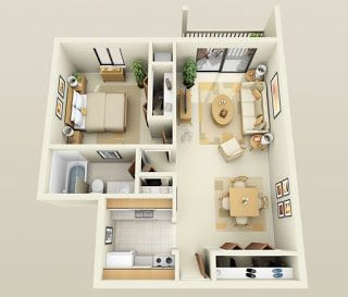 If you enjoyed the plans we featured for bedroom apartments yesterday will love this one apartment may be  hallmark singles or also hhome goi tri     phong ng puertas pinterest rh