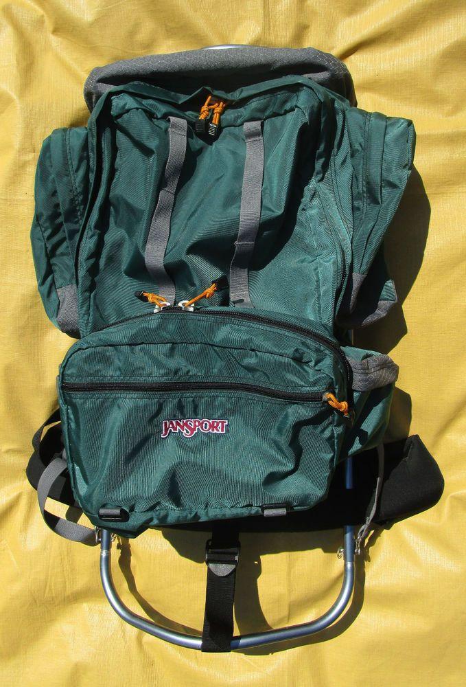 Jansport Aluminum Hard Frame Green Scout Backpack & Eureka cover