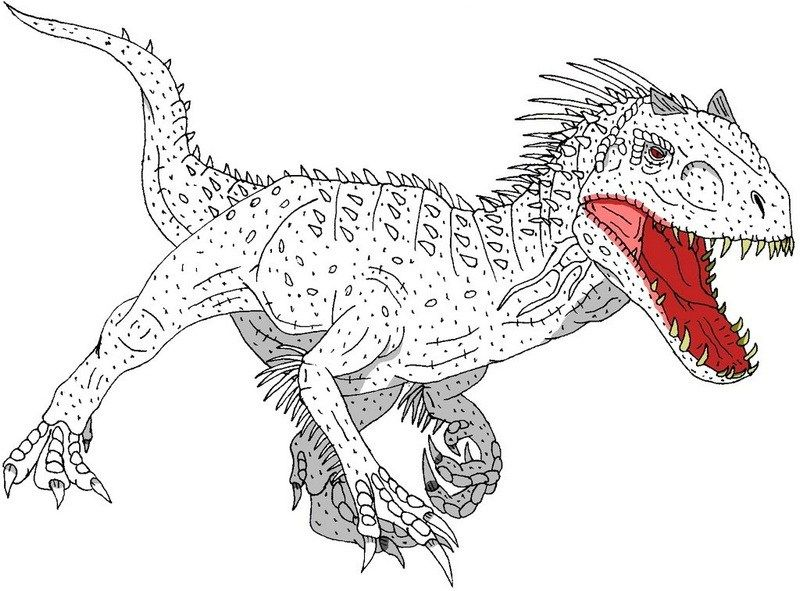 Strong Indominus Rex Coloring Picture Minion Coloring Pages Super Coloring Pages Indominus Rex