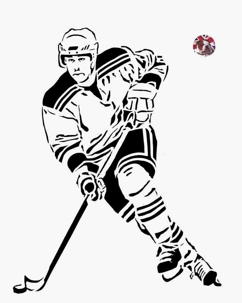 Картинки с хоккеистами нарисованные, гламурная