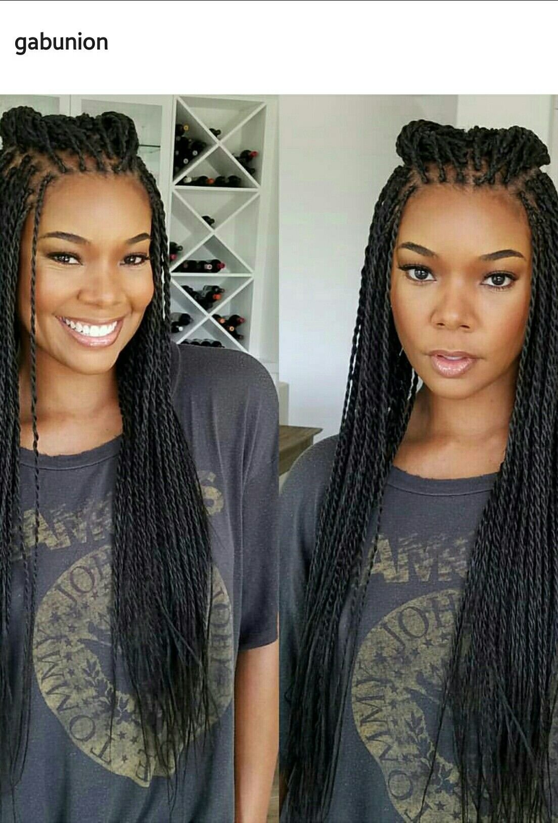 Gabrielle Union in braids
