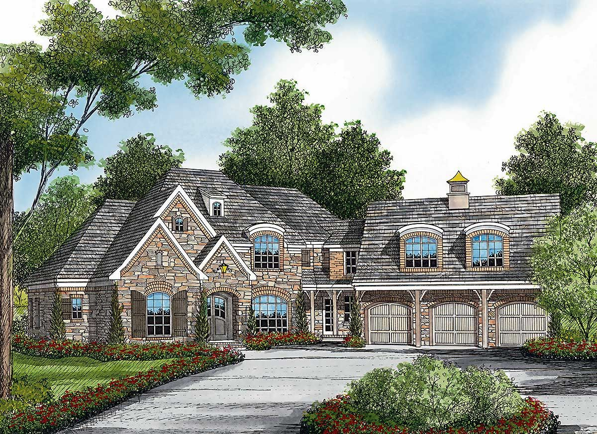 Plan 17529lv French Country Grandeur Country Floor Plans Country French Floor Plans French Country House Plans