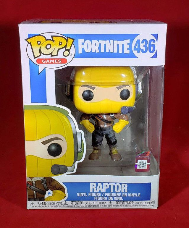Raptor Pop Fortnite Vinyl Figure