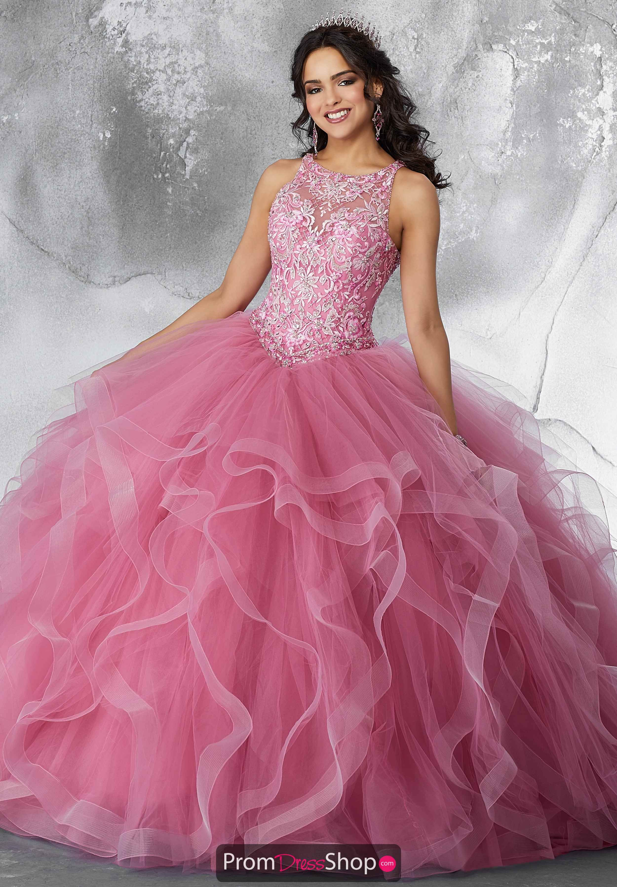 0e681220a3 Vizcaya Quinceanera High Neckline Beaded Gown 89194 in 2019 ...