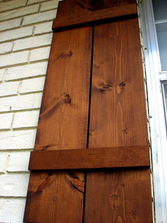 How to attach wooden shutters to brick home improvement stack exchange blog i really like for Exterior shutters that look like wood