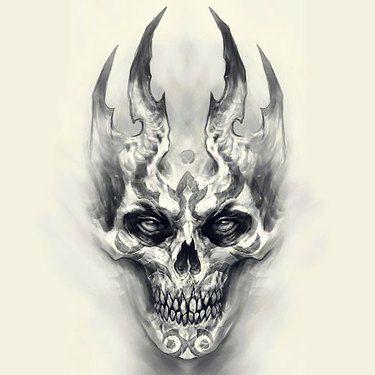 biomechanical skull tattoo design skull pinterest tattoos tattoo designs and scary tattoos. Black Bedroom Furniture Sets. Home Design Ideas