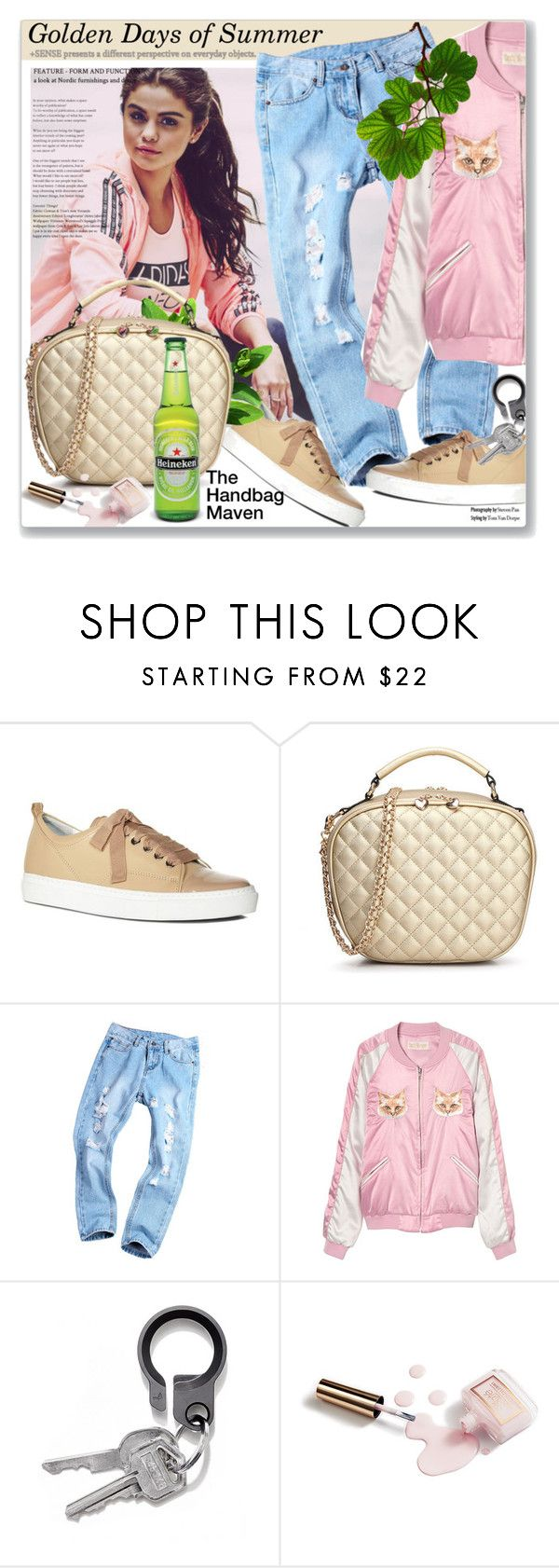 """""""The Golden Days of Summer"""" by paulioo ❤ liked on Polyvore featuring adidas NEO, Lanvin, Ciaté, daria, TheHandbagMaven and goldendaysofsummer"""