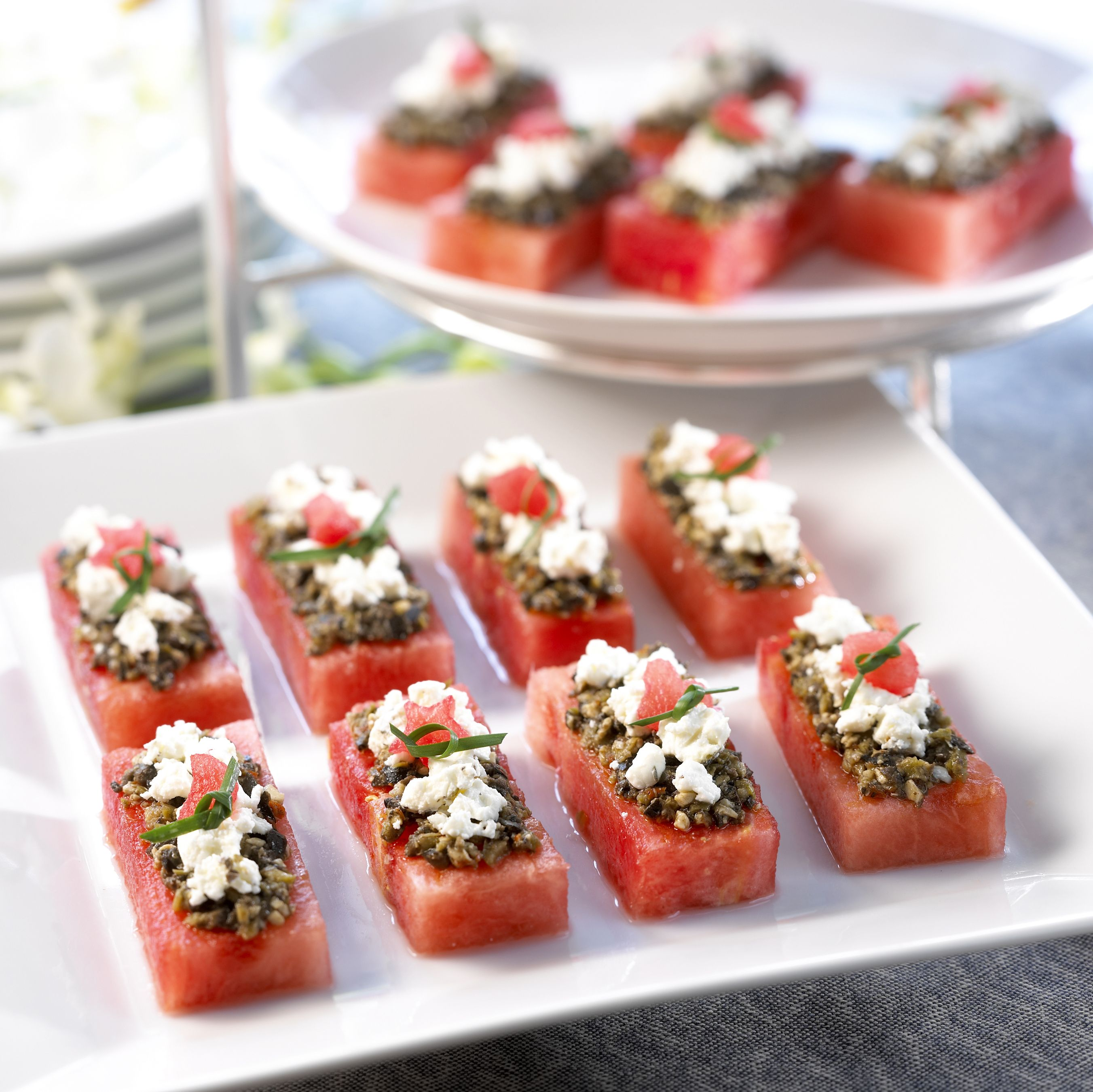 Watermelon Canapes Watermelon Board Recipe Appetizer Snacks Watermelon Recipes Recipes