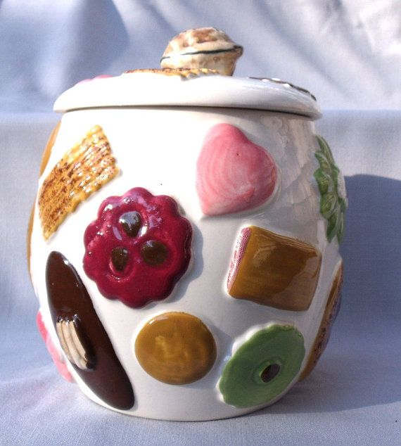 1950's Cookie Jars Delectable 1950's Cookies All Over Cookie Jarnapco 2K2251  Cookie Jars Decorating Inspiration