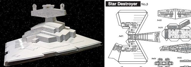 40 amazing papercraft templates for the geek inside you star destroyer papercraft and template. Black Bedroom Furniture Sets. Home Design Ideas