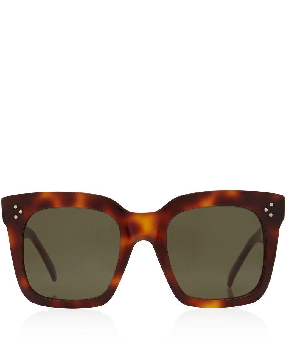 addf8fb78ccc Celine Tortoiseshell Tilda Oversized Sunglasses | Accessories |  Liberty.co.uk