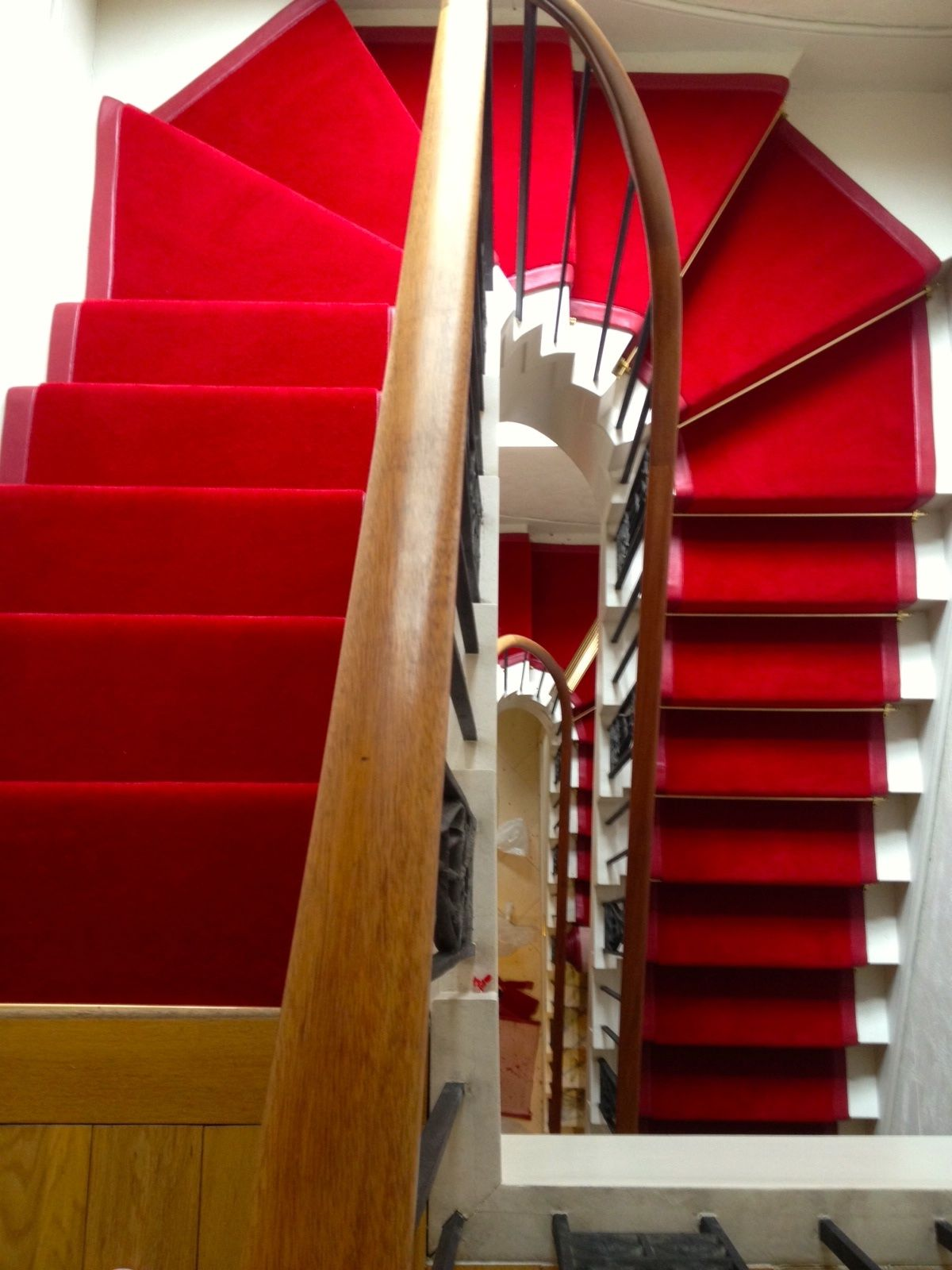 Best Red Velvet Stair Runner With Leather Edge Stairrunner 400 x 300