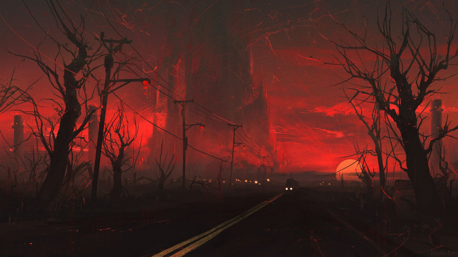 The Road by Daena Key (cdnb.artstation.com) submitted by Dancing_Cthulhu to  /r/ImaginaryLandscapes 1 comments original … | Art, Dark aesthetic,  Aesthetic wallpapers