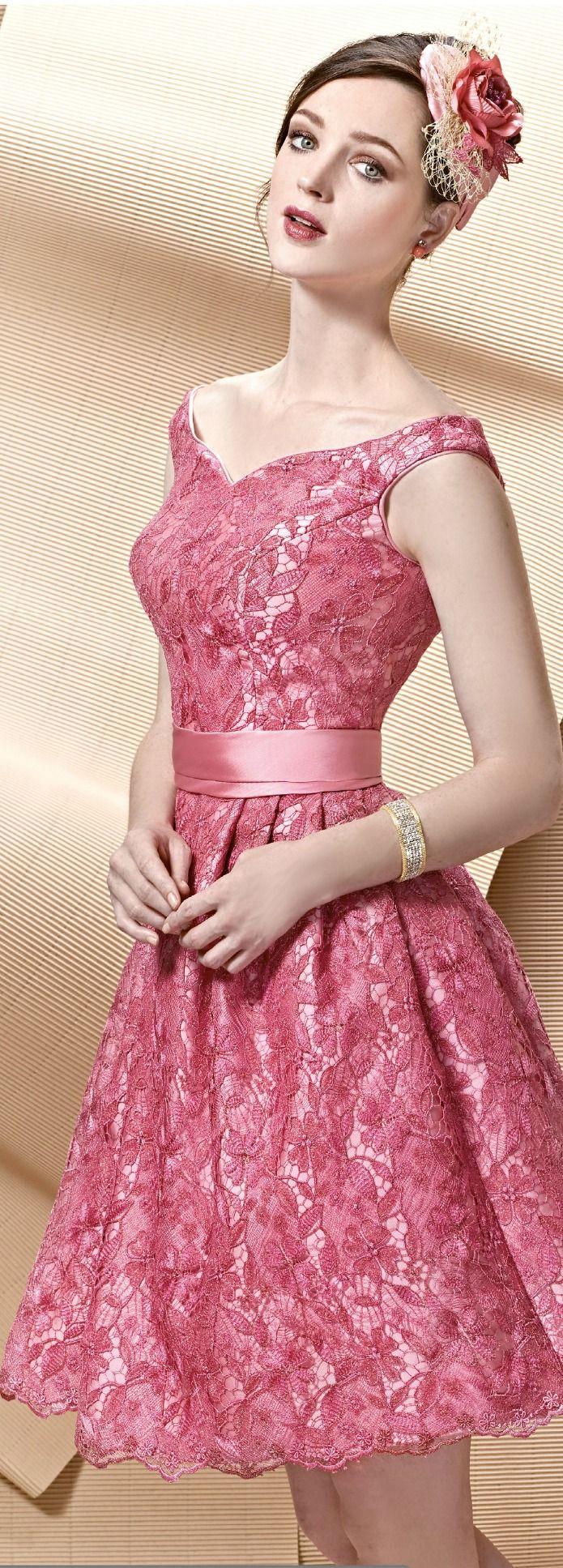 Party dresses Angela Ariza   bestidos en guipiur   Pinterest ...