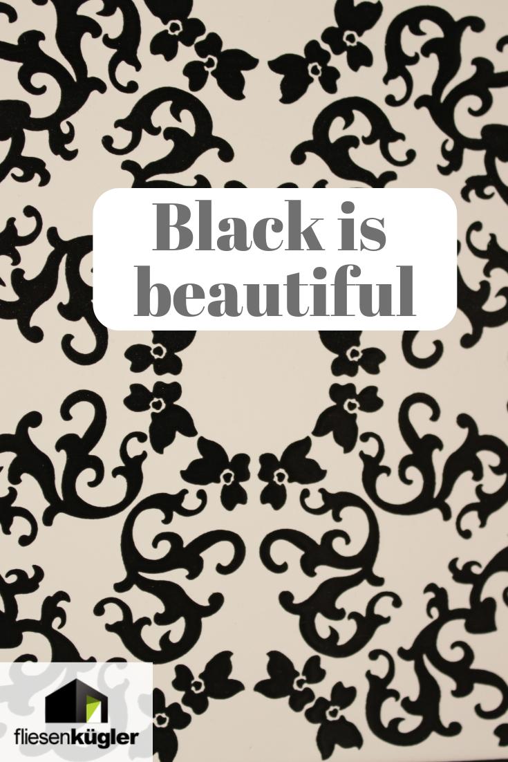 Schwarz Und Weiss Ist Eine Super Kombination Und Mit Ornamenten Werden Eure Fliesen Dann Auch Noch Zu Einem Echten Hingucker I Fliesen Ornamente Inspiration