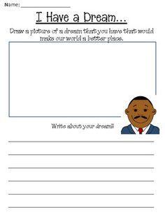 I Have A Dream Worksheet - Delibertad