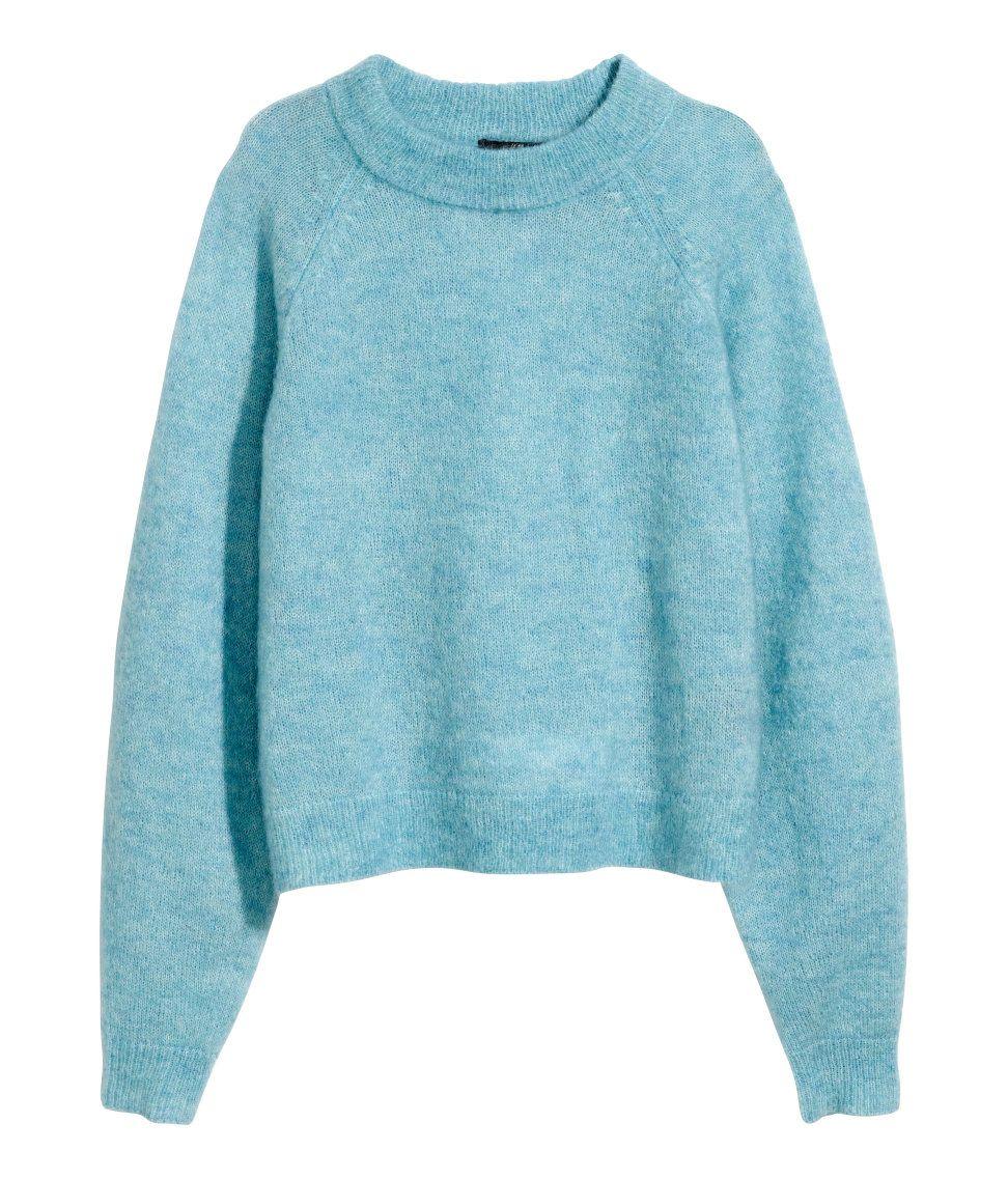 Sweater in light blue melange wool blend. | H&M Pastels | PRETTY ...
