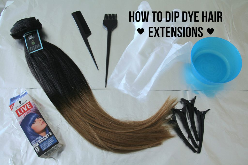 How To Dip Dye Hair Extensions Makeup Ideas Pinterest Ombre