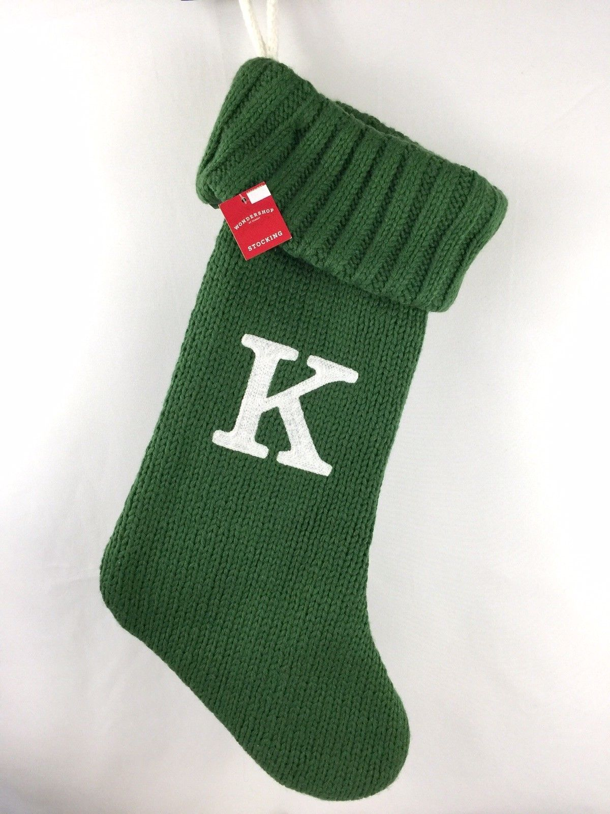 Target Christmas Stocking Initial Letter K Green Thick
